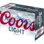 COORS LIGHT 24PK CANS